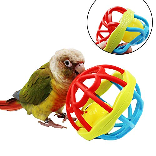 Bird Ball Foot Talon Toy for Chewing TrainingParrots Treat Tabletop Puzzle Ball ToySoft Rubber Bird Grinding Beak BallBird Cage Playpen Gym Playground Decor for Cockatiels Conures African Grey