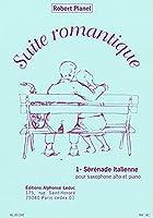 プラネル: 「ロマンティックな組曲」より イタリア風セレナード (E-flat管用)/ルデュック社/サクソフォンとピアノ