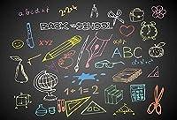 7×5フィートの背景の壁のドロップバック学校に戻る写真の背景カスタマイズされたサイズの背景の背景パーティーの写真の背景のビデオ背景の写真ボードの背景の背景