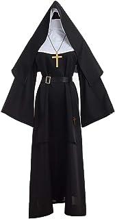 GRACEART The Nun Deluxe Adulto Disfraz de Monja para Mujer (