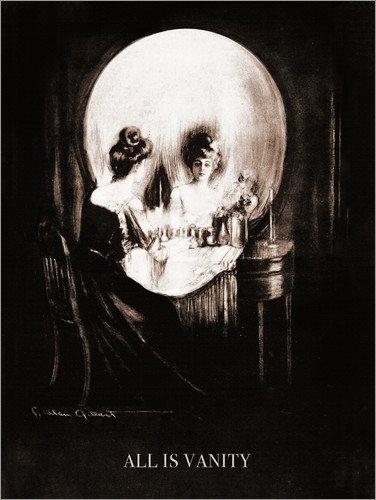 Posterlounge Acrylglasbild 30 x 40 cm: Alles ist Eitelkeit (Sepia) von Charles Allan Gilbert - Wandbild, Acryl Glasbild, Druck auf Acryl Glas Bild