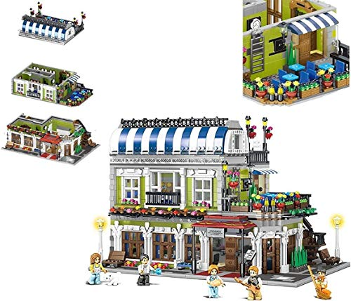 kids toys GCX Juego de construcción modular de casa, bloques A3570 piezas y 5 mini figuras, regalos para niños exquisitos