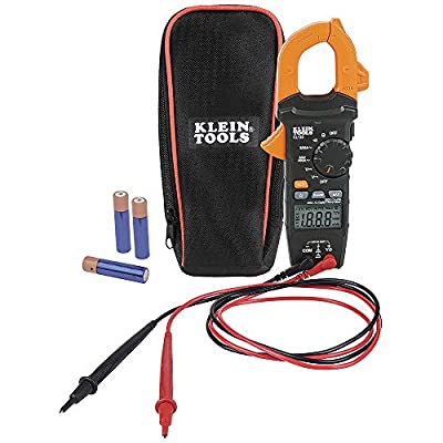 Klein Tools CL120 Digital Clamp Meter, Auto-Ranging 400 Amp AC/DC and Non-Contact Voltage Tester Measurements