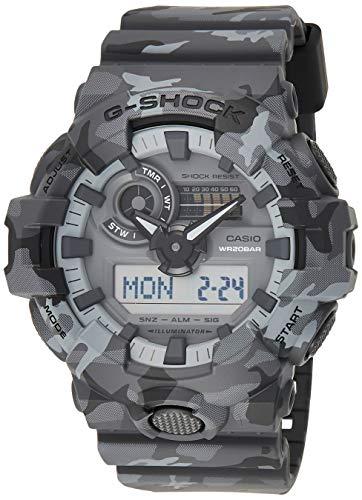 CASIO Reloj Analógico-Digital para Hombre de Cuarzo con Correa en Resina GA-700CM-8AER