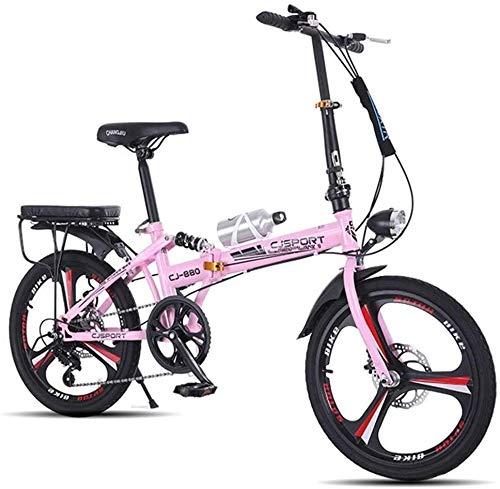 Bicicleta para Niños y Niñas 20 pulgadas de bicicletas niños niños niño de la bicicleta plegable de acero ligero de carbono de bicicletas de la ciudad, hombres y mujeres de doble freno de disco Amorti