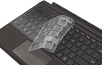 XSKN Keyboard Skin for Microsoft New Surface Pro (2017 Released) Ultra Thin Clear TPU Keyboard Cover Protector, US layout