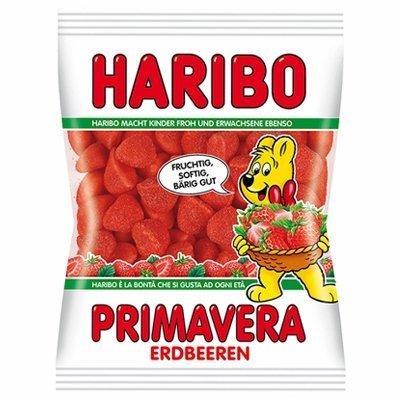 Haribo Primavera Strawberry Gummy Candy -Pack of 6 X 200 G