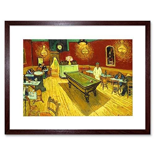 Wee Blue Coo Van Gogh Night Cafe Artwork Framed Wall Art Print 12X16 Inch Noche Café Pared