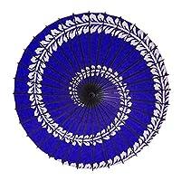 和傘 紙傘 こども用和傘 藤渦 紺 一本柄 踊り傘