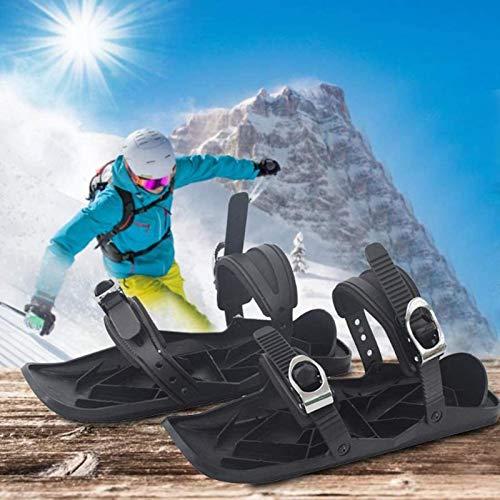 PHLPS Tragbare Skischuhe, Mini-Skischuhe, Skischuhe Tragbare Schlittschuhe, Winter im Freien Tragbar, Für Männer Frauen Universal Sports Skischuhe