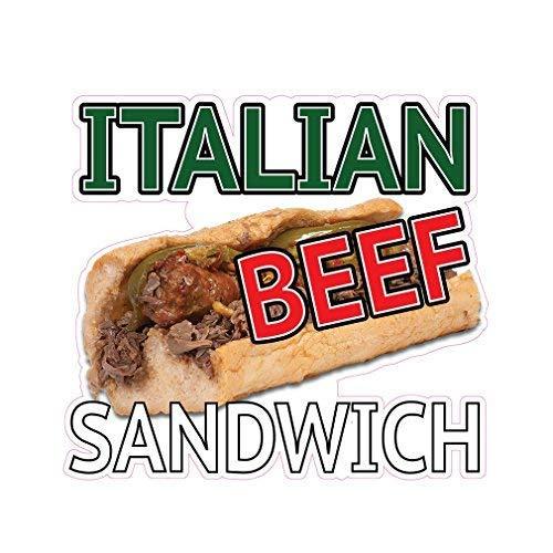 Prima28Ja Italian Beef Sandwich Concession Restaurant Food Truck Die-Cut Vinyl Sticker 10 Inches