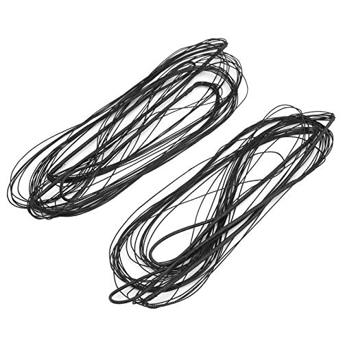 VGEBY Cuerda de Arco Poliéster 12 Hilos Tiro con Arco Cuerda de Arco Cuerda de Arco para Aparejos de Caza con Arco recurvo 160 + 173cm