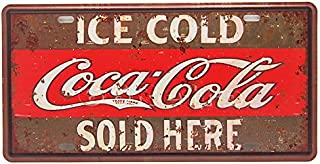 Ice Cold Coca Cola Sold Here, Embossed Metal Tin Sign, Wall Decorative Sign By 66reto