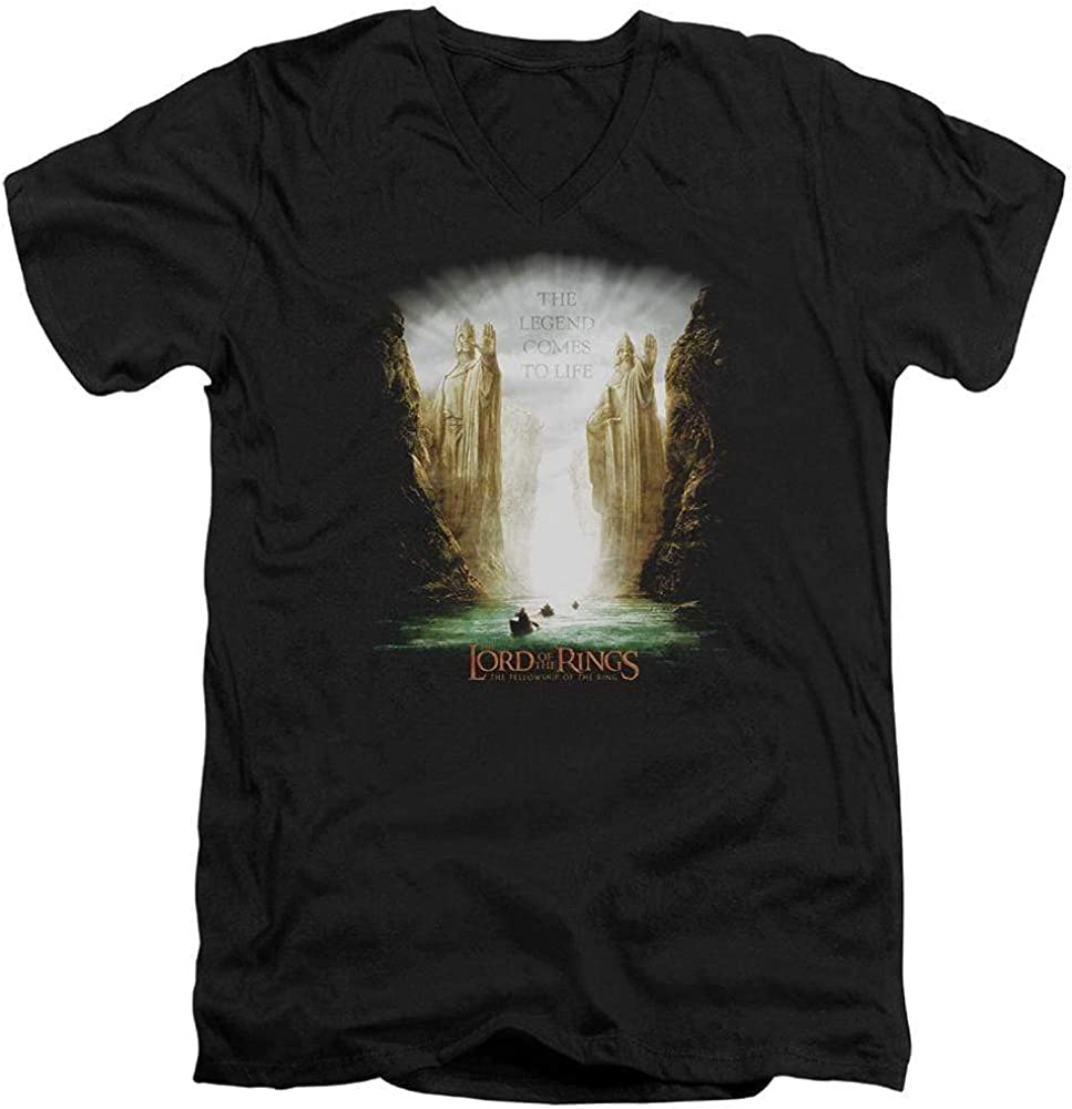 Lord of The Rings Kings of Old Adult V-Neck T-Shirt