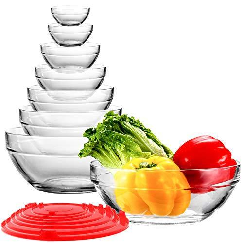 Glass Mixing Bowls Stackable Bowl Set