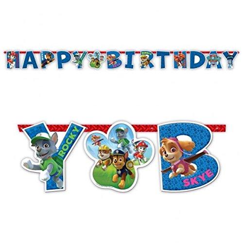 Bannière Happy Birthday Pat'Patrouille