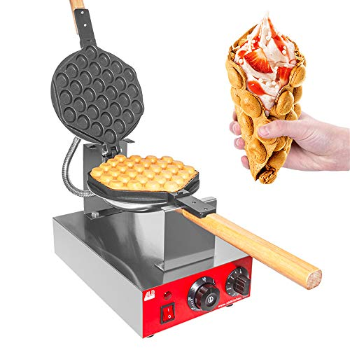 Great Deal! ALDKitchen Bubble Waffle Maker   Egg Waffle Iron with Manual Thermostat and Nonstick Coa...