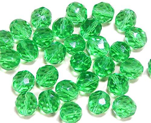 Glasschliffperlen böhmische Glasperlen 4 mm oval 50 Perlen pro Packung.