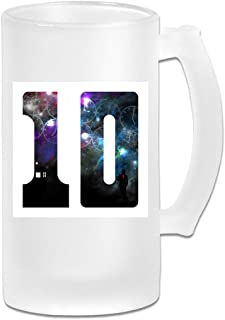Printed 16oz Frosted Glass Beer Stein Mug Cup - 10th Doctor Who David Tennant - Graphic Mug