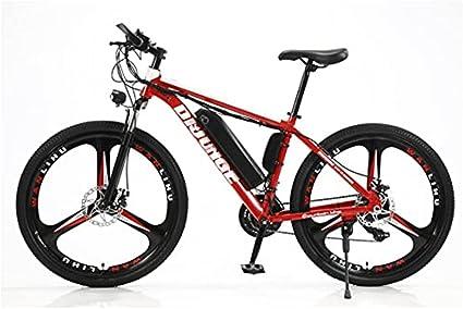 Bicicleta elétrica de 66 cm, carga rápida de 3 horas, bicicleta elétrica para adultos de 36 V/10,4 Ah com bateria de íon de lítio removível, bicicleta de montanha elétrica com Shimano 21 velocidades e garfo de suspensão