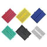 RLECS 6-Pack Breadboard 170 Tie Points Mini Solderless Breadboard 6 Colors PCB Prototype Protoboard...