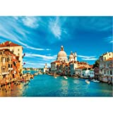 GuDoQi Puzzle 1000 Piezas Adultos Rompecabezas Venecia Ganal Italia para Infantiles Adolescentes