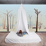 Ropa De Cama De Bebé Cúpula Redonda Cama Colgante Canopy Kids Play Tent Cortina De Mosquitera para Bebé Niños Lectura Reproducción Decoración De La Habitación (Color : Blanco)