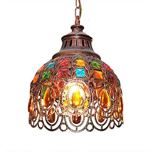 Sospensione Bohemia marocchina, turca lampadario di cristallo multicolore Lampada Tiffany soffitto dello schermo di soggiorno sala da pranzo arredamento della camera da cucina appeso E27