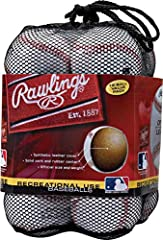 Designed for Recreational Use, this bag of 12 official league baseballs features a solid cork and rubber center, making them ideal for batting practice or casual games Ideal for ages 8 & under Easy to transport thanks to the convenient mesh carrying ...