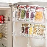 Mason Jar Bottles Bags, 21Pieces Reusable Food Saver Storage Bags Snacks Zipper Sealed Bags Fresh Bags