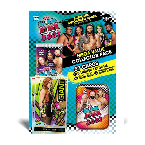 Topps WWE Slam Attax 2021 - Collector Pack (Pink/Orange Tin)