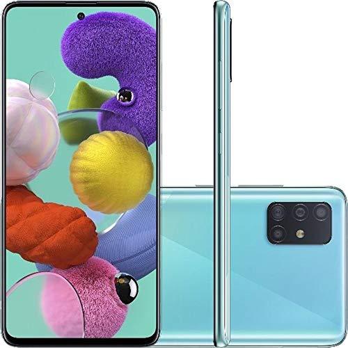 Celular Samsung Galaxy A51 Azul 4gb 128gb Câmera Quadrupla 48mp + 12mp + 5mp + 5mp