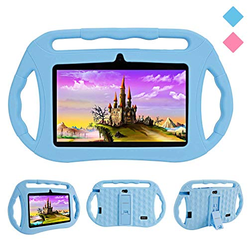 Kids Tablets PC, Veidoo 7 inch Android 8.1 Tablet with Google Play Store GMS Certification 16GB Storage, IPS Screen, Premium Parent Control Pre-Installed iWAWA APP, Best Gift for Kids (Blue)