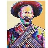 Tiiiytu Pancho Villa Carteles E Impresiones Lienzo Arte De Pared Cuadros De Pintura Impresos para Decoración del Hogar Regalo-60X80 Cm Sin Marco