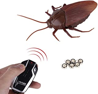 Top Race Infrared Remote Control Fake Giant Cockroach Prank Insects RC Toy Scary Bugs Trick for Party New Version NO Lights - TR-A20