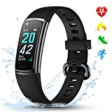 LETSCOM Fitness Trackers with Heart Rate Monitor Waterproof, Calorie Counter Pedometer Activity Tracker