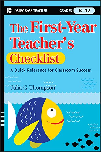 First Year Teachers Checklist Reference