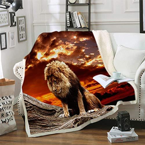 LIFUQING DIY Lion Bett Decke Bettfallen...