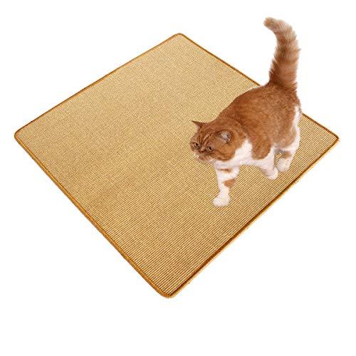 Kettelservice-Metzker Sisal Kratzmatte I Kratzteppich aus 100% Sisal I in verschiedenen Größen 100 x 100 cm