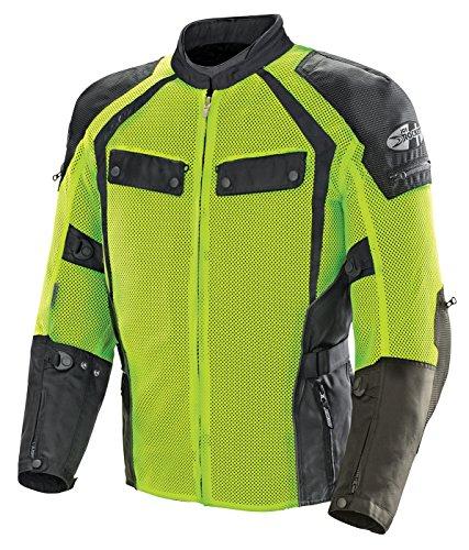 Joe Rocket Men's Phoenix Ion Summit Mesh Motorcycle Jacket (Black/Hi-Viz, Medium)