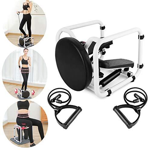 WHY Stepper Mini Fitness Up-Down Stepper con Cuerdas De Resistencia Y Pantalla LED Swing Stepper para Hacer Ejercicio Casa Stepper