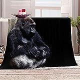 LHUTY Manta de Franela Chimpancés 70x100 cm Viaje...
