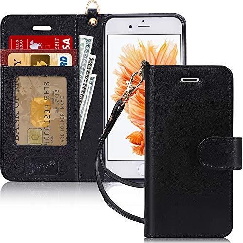 FYY Cover iPhone 6S / 6, Custodia iPhone 6S / 6, Flip Custodia Portafoglio Libro Pelle PU con Porta Carte e Chiusura Magnetica per iPhone 6/6S-Nero