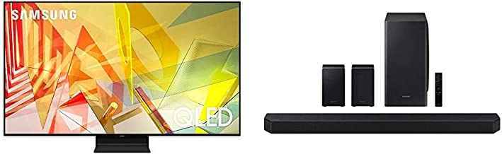 SAMSUNG 65-inch Class QLED Q90T Series - 4K UHD Smart TV with Alexa Built-in (QN65Q90TAFXZA, 2020 Model) + HW-Q950T 9.1.4c...