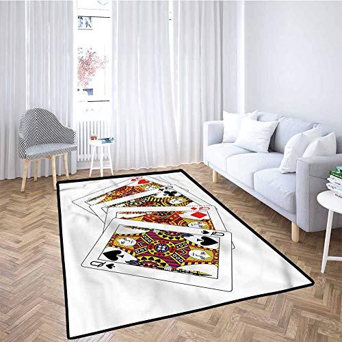 Review Queen Large Door mat Queens Poker Play Cards Home Decor 6x9 Feet