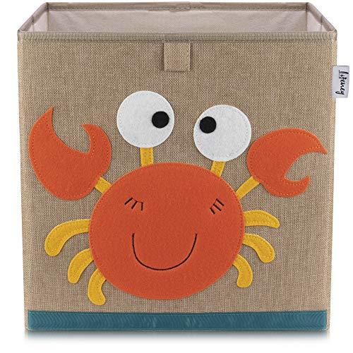 LIFENEY baul Juguetes I una práctica Caja de Almacenamiento para Cada Cuarto de niños I baul Juguetes Infantil I Caja Juguetes (Cangrejo marrón)