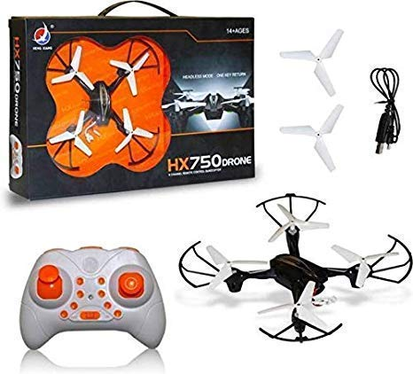 JMJ HX 750 Drone Quadcopter 360 Degree Movable Stunt Drone Without Camera for Kids (Black)