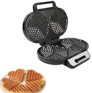 TASGK Waffle Maker 2 tranches Stain Acier Machine électrique avec des plaques Anti-adhésif Facile à Nettoyer température r...