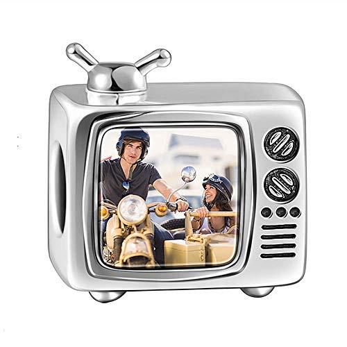 Soufeel Personalisiert Photo Charms Damen Beads Anhänger TV Set 925 Sterling Silber Besonderes Geschenk für Damen Mutter Freundin