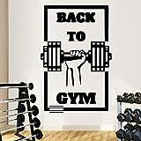 ASFGA Único Gym Family Wall Sticker Mural Artista Decoración del hogar Sala de Estar Dormitorio Club Decoración Sports Sticker Mural Naklejki Na Sciane 120x176cm